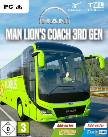Fernbus + Tourist Bus Simulator: DLC MAN Lion's Coach 3rd Gen